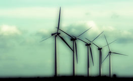 Abstract wind farm. Abstract view of wind farm stock photo
