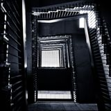 Abstract winding staircase Stock Images