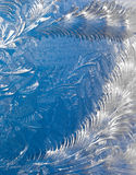 Abstract window frost background stock photo