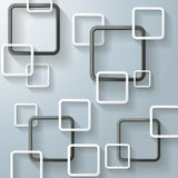 Abstract Window Rectangles Four Black Royalty Free Stock Photo