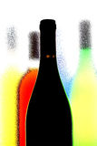 Abstract Wine Background. Abstract background design of wine   bottles Royalty Free Stock Image