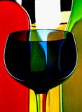 Abstract Wine Background. Abstract background design of wine   bottles and glass Royalty Free Stock Image
