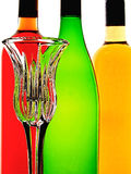 Abstract Wine Background. Abstract background design of wine   bottles and glass Royalty Free Stock Photo