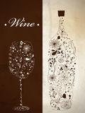 Abstract wine bottle Royalty Free Stock Photography