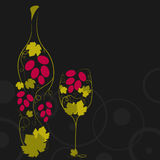 Abstract wine bottle Stock Image