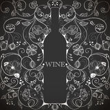 Abstract wine bottle Royalty Free Stock Images