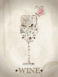 Abstract Wine Card Stock Image