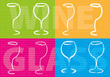 Abstract wine concept. Abstract color wine glass concept Stock Photography