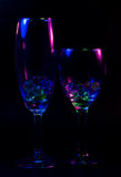 Abstract wine glass Royalty Free Stock Photo