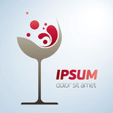 Abstract wine glass symbol Stock Photos