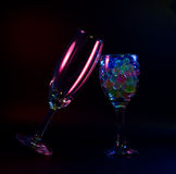 Abstract wine glasses Stock Images