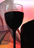 Abstract Wine Glassware Background Design Stock Photography