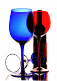 Abstract Wine Glassware. Abstract wine glassware  background design Stock Image