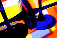 Abstract Wine Glassware. Abstract wine glassware  background design Royalty Free Stock Photos
