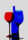 Abstract Wine Glassware. Abstract wine glassware  background design Stock Photo