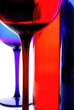 Abstract Wine Glassware. Royalty Free Stock Photos