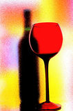 Abstract Wine Glassware. Royalty Free Stock Photo