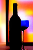 Abstract Wine Glassware. Royalty Free Stock Images
