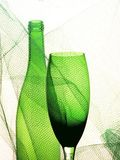 Abstract Wine Glassware Background Design Royalty Free Stock Photography