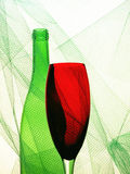 Abstract Wine Glassware Background Design. Conceptual abstract wine glassware background design stock images