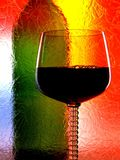 Abstract Wine Glassware Design Royalty Free Stock Images