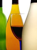Abstract Wine Glassware Design Stock Photography