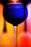 Abstract Wine Glassware Design. Abstract wine glassware background design Stock Image