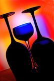 Abstract Wine Glassware Design. Abstract wine glassware background design Stock Photography