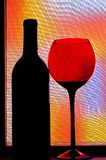 Abstract Wine Glassware Design Stock Image