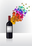 Abstract wine Royalty Free Stock Photography