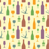 Abstract wine seamless pattern. Vector abstract wine seamless pattern Stock Image
