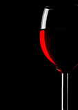 Abstract wineglass. Abstract silhouette of wineglass on black Stock Photo