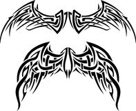 Abstract Wing Tattoo Stock Images