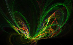 Abstract wings. Abstract colorful butterfly wings on black background Stock Image