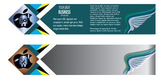 Abstract Wings Business Banner New Royalty Free Stock Photography