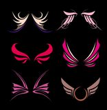 Abstract wings design. Vector illustration. Stock Photos