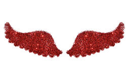 Abstract wings of red glitter sparkle on white background Stock Image