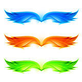 Abstract wings set Royalty Free Stock Photography