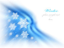 Abstract winter background. With snow & copy space Royalty Free Stock Photos