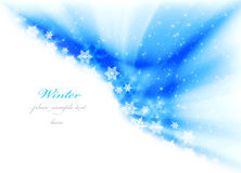 Abstract winter background. With snow & copy space Stock Image
