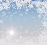 Abstract winter background. With snowflakes Royalty Free Stock Images