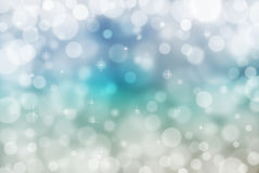 Abstract winter background. Abstract winter blue background with bokeh effect Royalty Free Stock Image