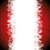 Abstract winter background. Abstract red winter background with snowflakes Royalty Free Stock Photo