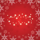 Abstract winter background. Abstract red white winter background Stock Photo