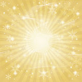 Abstract winter background. Abstract golden winter christmas background Royalty Free Stock Image
