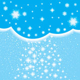 Abstract winter background. Abstract blue winter background with stars Stock Images