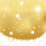 Abstract winter background. Abstract golden white winter background Royalty Free Stock Photo
