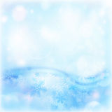 Abstract winter background. Image of blue abstract winter background, illustration of beautiful snowflakes, wintertime decorations border, happy New Year holiday Stock Photos