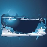 Abstract winter background. With a place for your text Vector Illustration