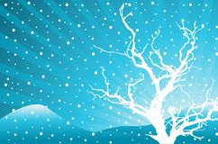 Abstract winter background. Vector illustration Royalty Free Stock Photos
